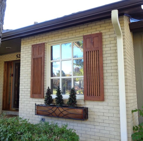 Mission style shutters (Colorado)