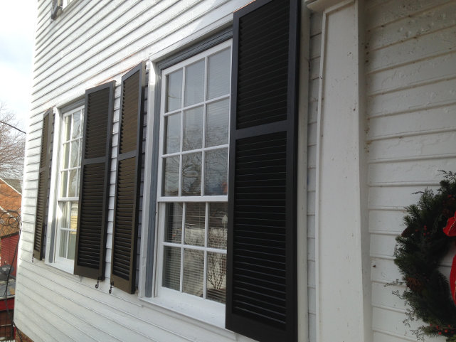 Louvered shutters to match period originals (Virginia)