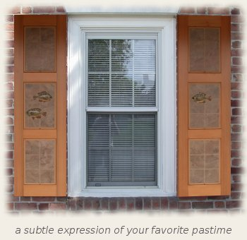 Pisces shutters for Arts and crafts exterior shutters